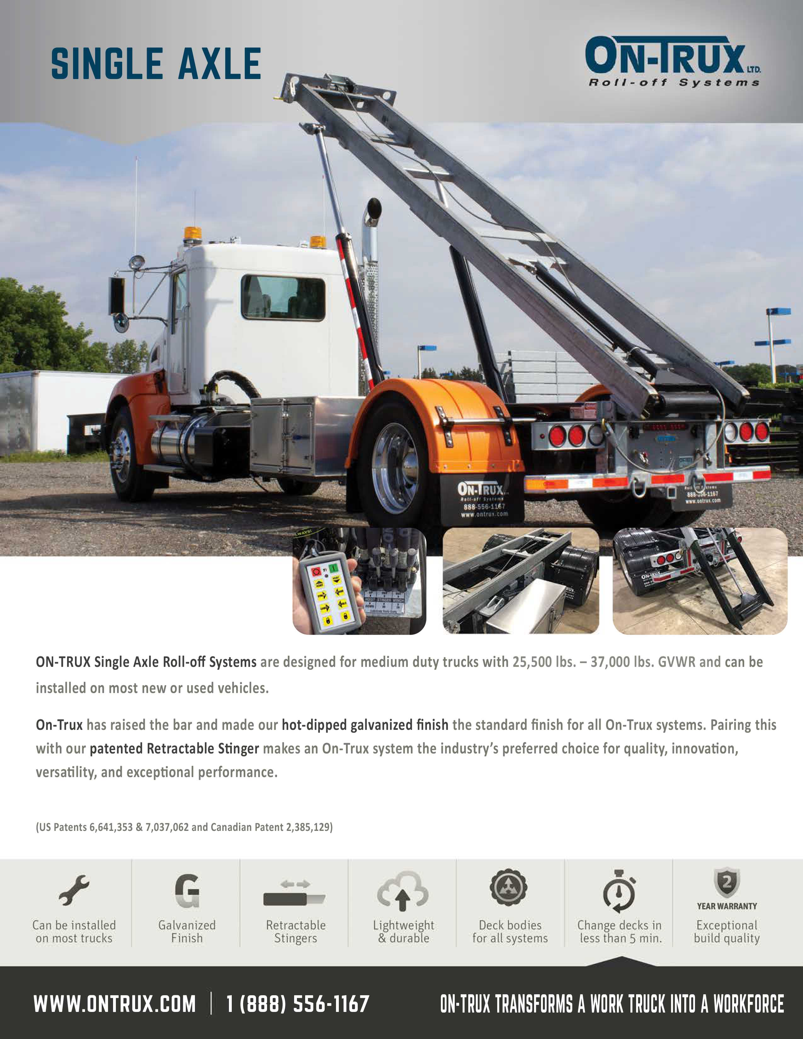 SINGLE AXLE ON-TRUX SYSTEM